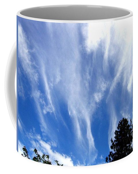 Sky Coffee Mug featuring the photograph Blustery Sky by Will Borden