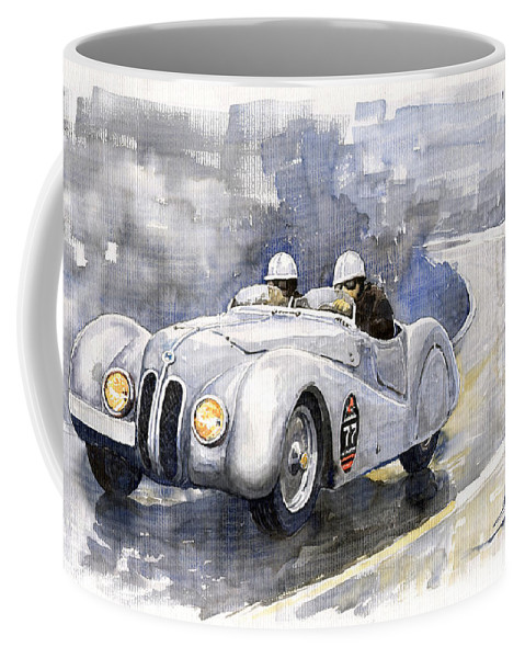 Auto Coffee Mug featuring the painting BMW 328 Roadster by Yuriy Shevchuk