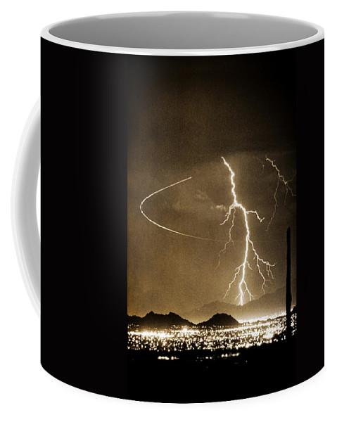 Lightning Coffee Mug featuring the photograph Bo Trek Lightning Art by James BO Insogna