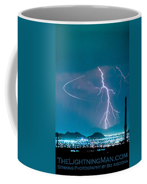 Lightning Coffee Mug featuring the photograph Bo Trek The Poster by James BO Insogna