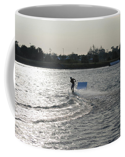 Waves Coffee Mug featuring the photograph Board Jump by Rob Hans