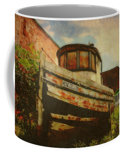 Boat Coffee Mug featuring the photograph Boat At Apalachicola by Toni Hopper