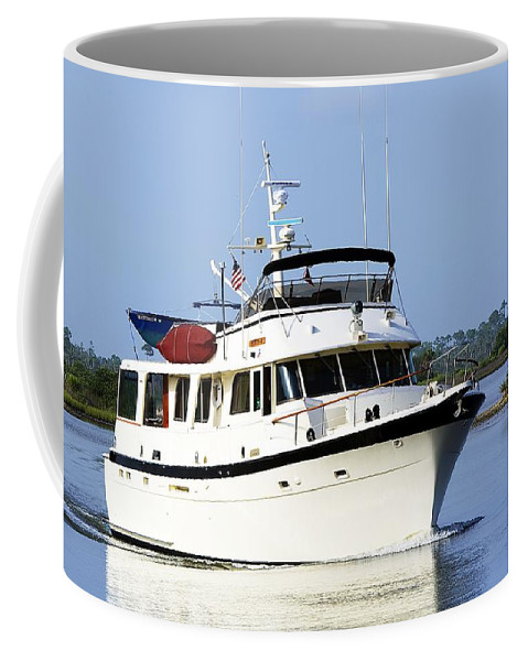 Boat Coffee Mug featuring the photograph Boat On Pellicer Creek by Kenneth Albin