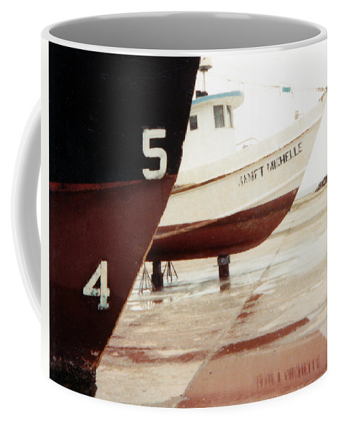 Boat Reflection Coffee Mug featuring the photograph Boat Reflection 2 by Cindy New