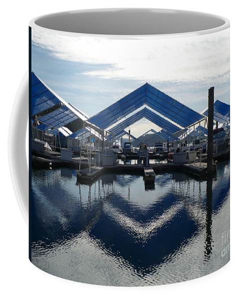 Boats Coffee Mug featuring the photograph Boat Reflection On Lake Coeur D'alene by Carol Groenen