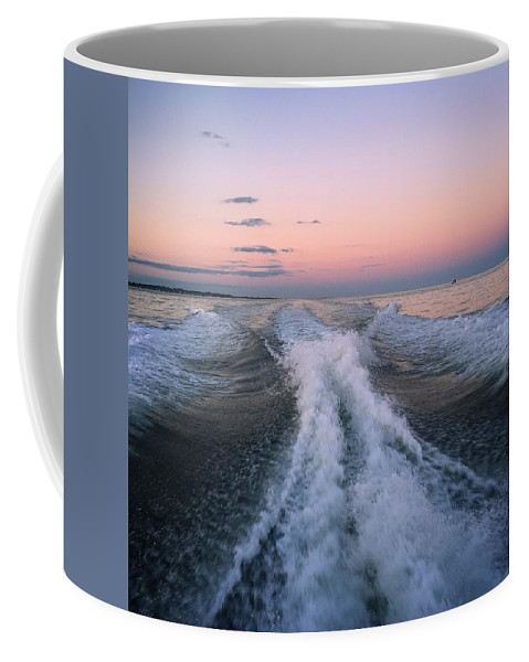 Setting Sail Coffee Mug featuring the photograph Boat Waves by Joseph Mari