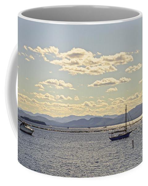 Lake Champlain Coffee Mug featuring the photograph Boats On Lake Champlain Vermont by Catherine Sherman