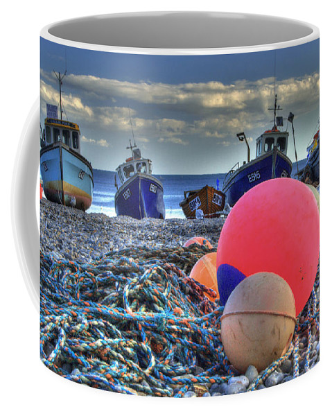 Boats Coffee Mug featuring the photograph Boats On The Beach At Beer by Rob Hawkins