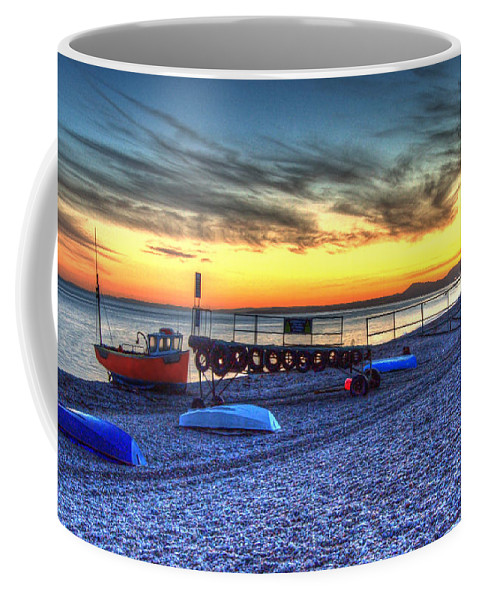 Boats Coffee Mug featuring the photograph Boats On The Beach At Branscombe by Rob Hawkins