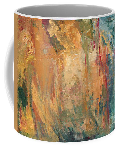 Abstract Painting Coffee Mug featuring the painting Bob by Jaime Becker