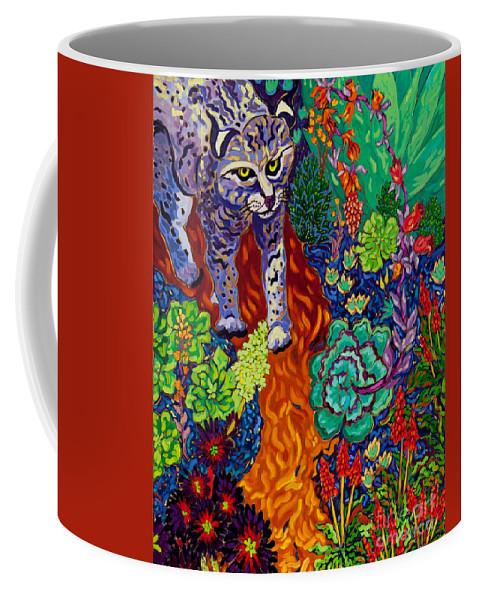 Bobcat Coffee Mug featuring the painting Bobcat Kachina by Cathy Carey