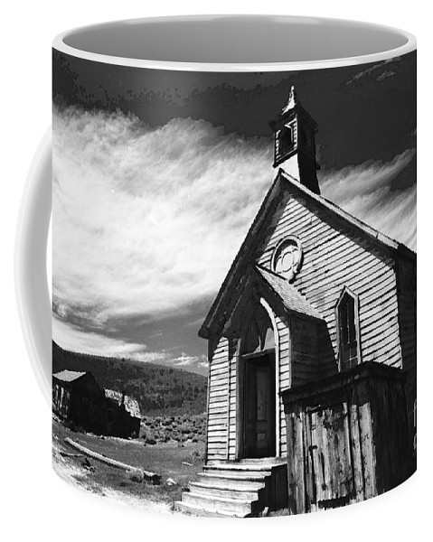 California History Coffee Mug featuring the photograph Bodie Church 1977 by Norman Andrus