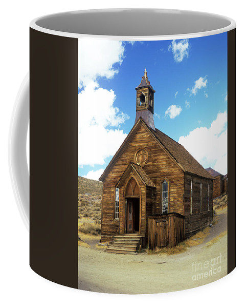 Bodie Coffee Mug featuring the photograph Bodie Church IIi by Jim And Emily Bush