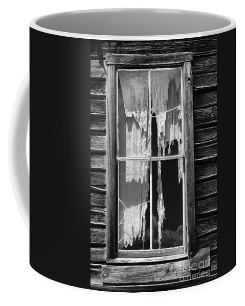 Black & White Coffee Mug featuring the photograph Bodie Ghost Town by Sandra Bronstein