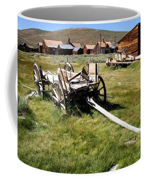 Bodie Wagon Coffee Mug featuring the photograph Bodie Wagon by Chris Brannen