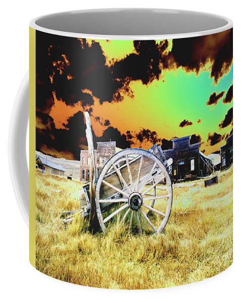 Bodie Coffee Mug featuring the photograph Bodie Wagon by Jim And Emily Bush