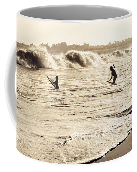 Body Surfing Coffee Mug featuring the photograph Body Surfing Family by Marilyn Hunt