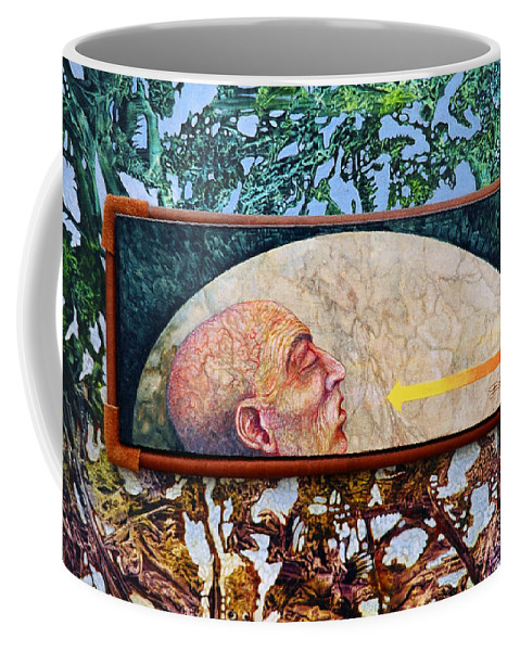 Surrealism Fantasy Fantastic Realism Decalcomania Otto Rapp The Mystic Coffee Mug featuring the painting Bogomil Rising by Otto Rapp