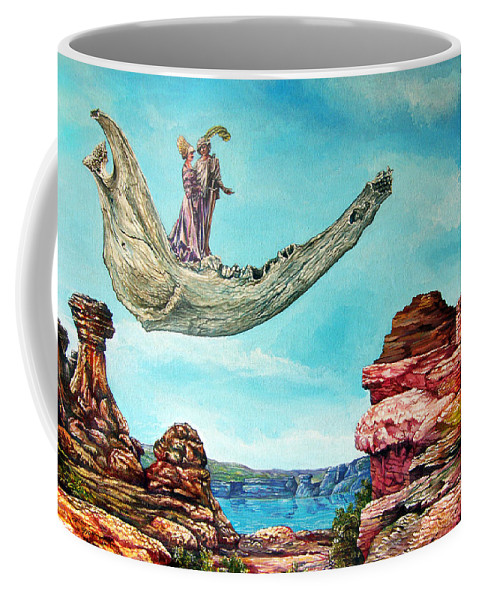 Painting Coffee Mug featuring the painting Bogomils Journey by Otto Rapp