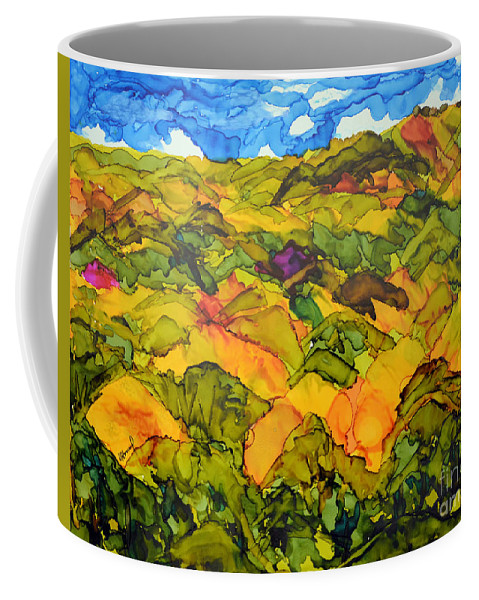 Chocolate Hills Coffee Mug featuring the painting Bohol Philippines by Vicki Housel