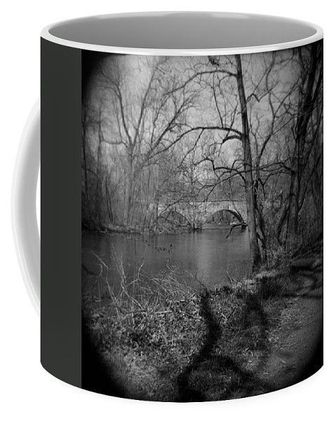 Photograph Coffee Mug featuring the photograph Boiling Springs Stone Bridge by Jean Macaluso