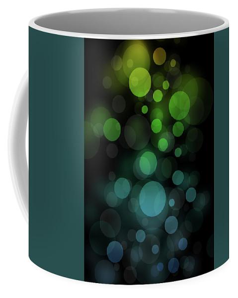 Bokeh Coffee Mug featuring the digital art Bokeh by Radek Gibran