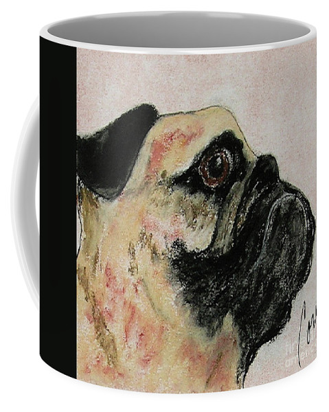 Pastel Coffee Mug featuring the mixed media Bold Determination by Cori Solomon