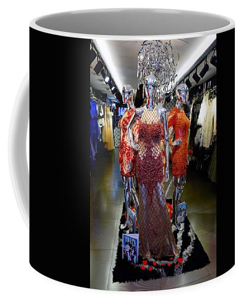 Mannequins Coffee Mug featuring the photograph Bold Mannequins Fashion Display In Palma Majorca Spain by Richard Rosenshein