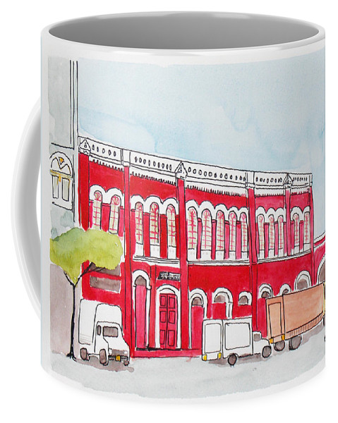 Bombay Coffee Mug featuring the painting Bombay Samachar by Keshava Shukla