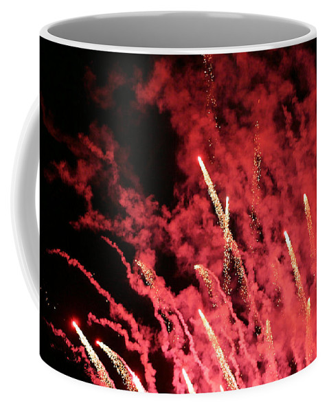 Fireworks Coffee Mug featuring the photograph Bombs Bursting In Air by Kristin Elmquist