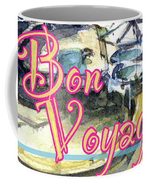 Cruise Coffee Mug featuring the painting Bon Voyage Cruise by John D Benson