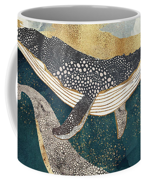 Whale Coffee Mug featuring the digital art Bond II by Spacefrog Designs