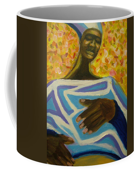 Painting Coffee Mug featuring the painting Bongo Man II by Jan Gilmore