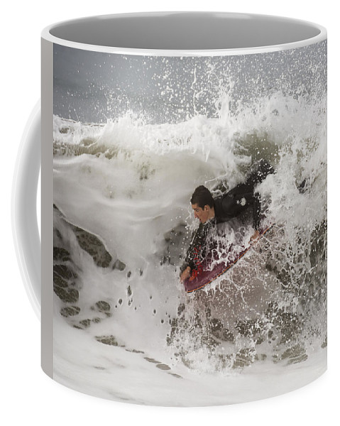 Surf Coffee Mug featuring the photograph Boogie-bomb Explosion by Bruce Frye