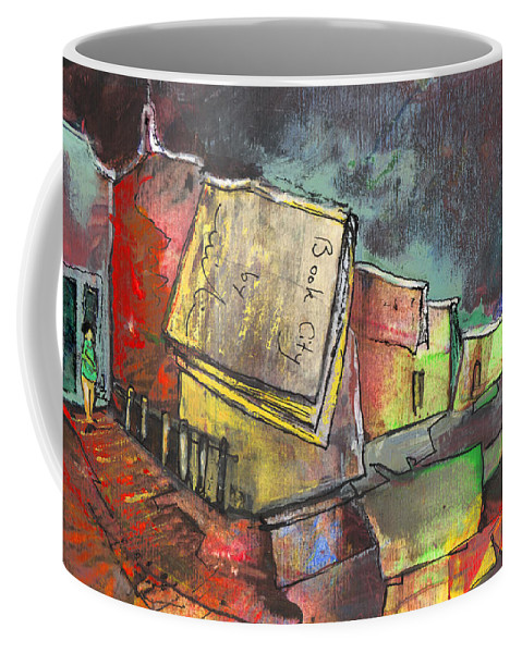 Books Coffee Mug featuring the painting Book City by Miki De Goodaboom