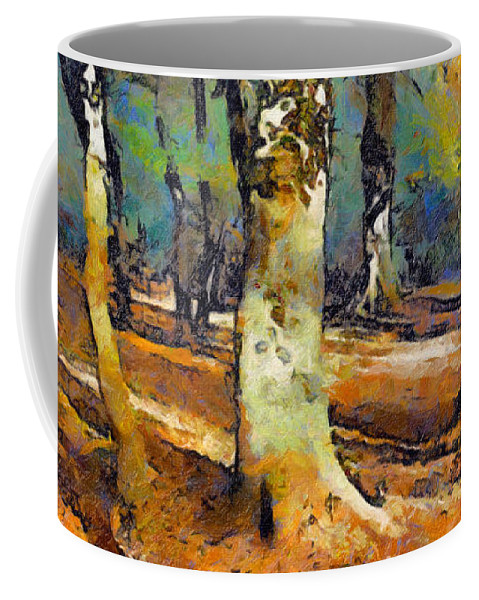 Woods Coffee Mug featuring the painting Booker Woods by Jon Delorme