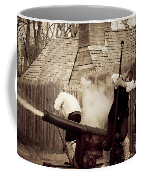 Canon Photographs Coffee Mug featuring the photograph Boom by Kim Henderson