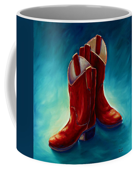 Boots Coffee Mug featuring the painting Boots by Shannon Grissom