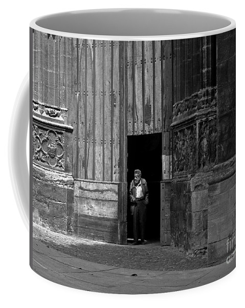 Bordeaux Coffee Mug featuring the photograph Bordeaux Church Door by Thomas Marchessault