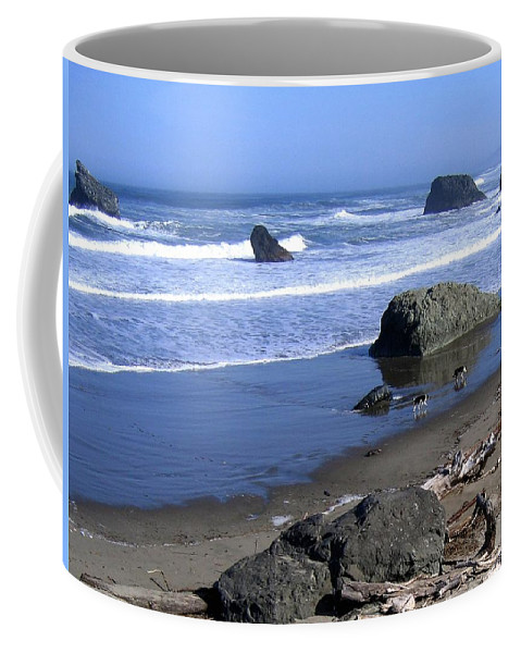 Border Collies Coffee Mug featuring the photograph Border Collies by Will Borden