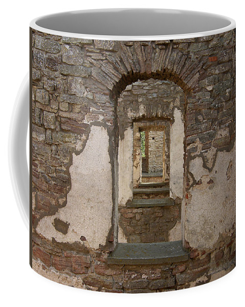 Arch Coffee Mug featuring the photograph Borgholm Castle by Are Lund