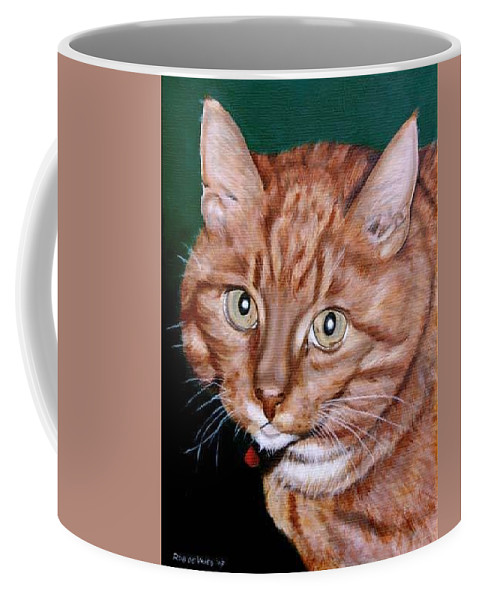 Pets Coffee Mug featuring the painting Boris by Rob De Vries