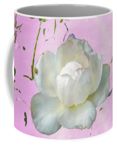 Rose Coffee Mug featuring the photograph Bos A Ten by Diane Lindon Coy