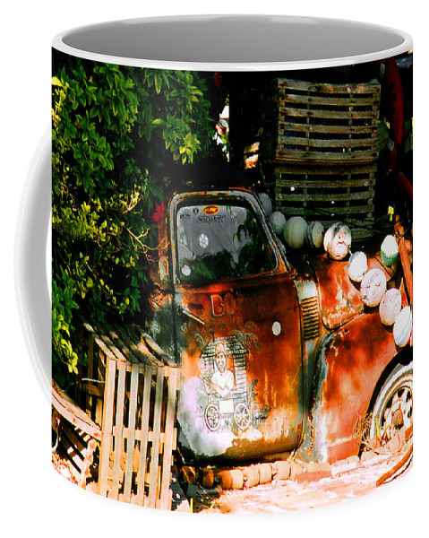Restaurant Coffee Mug featuring the photograph B.o.'s Fish Wagon In Key West by Susanne Van Hulst