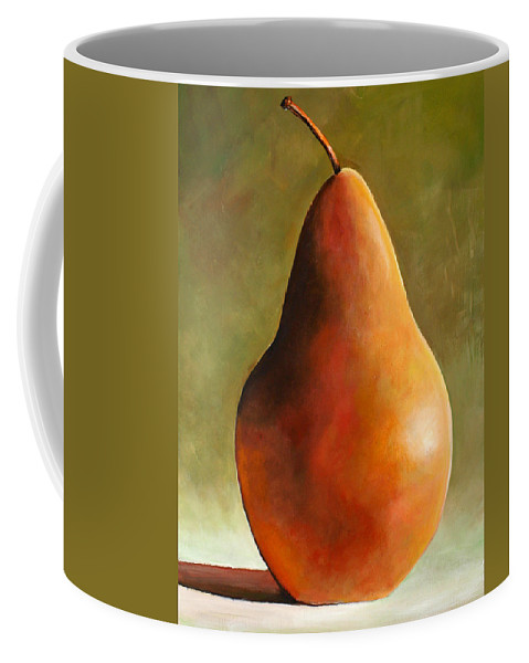 Pear Coffee Mug featuring the painting Bosc Pear by Toni Grote