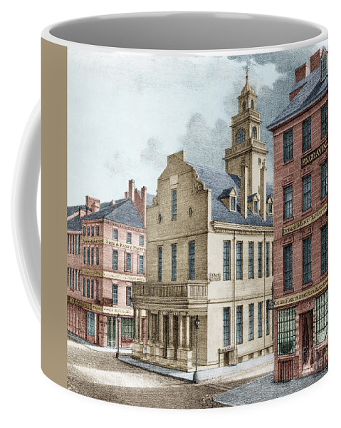 History Coffee Mug featuring the photograph Boston, 19th Century by Science Source
