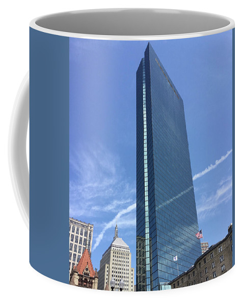 Boston Coffee Mug featuring the photograph Boston John Hancock Towers by Ken West