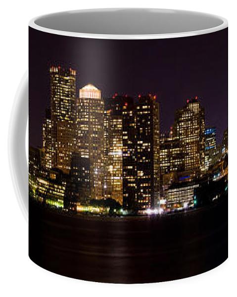 Boston Coffee Mug featuring the photograph Boston Massachusetts - Panoramic by Anthony Totah
