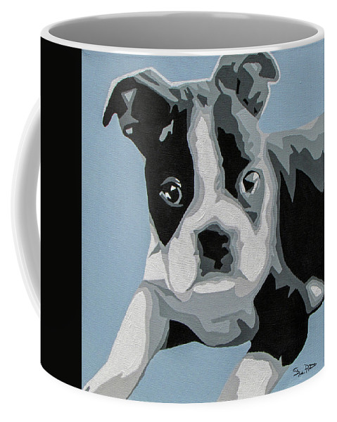 Boston Terrier Coffee Mug featuring the painting Boston Terrier by Slade Roberts