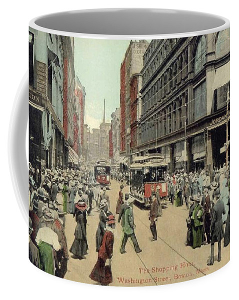 1910 Coffee Mug featuring the photograph Boston: Washington Street by Granger